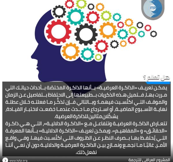 الذاكرة العرضية والذاكرة الدلالية